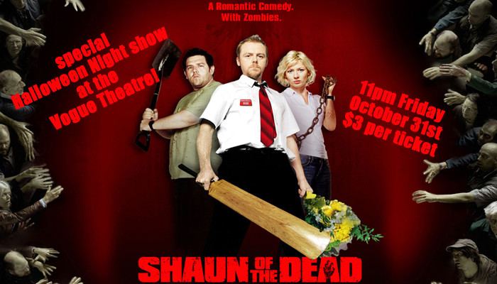 Shaun Of The Dead – special Halloween Night show!